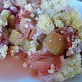 Bonbon anglais ou fraise-rhubarbe tout simplmeent: choisissez votre crumble!!