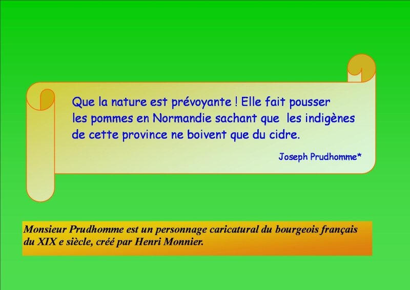 Citation de Joseph Prudhomme ...