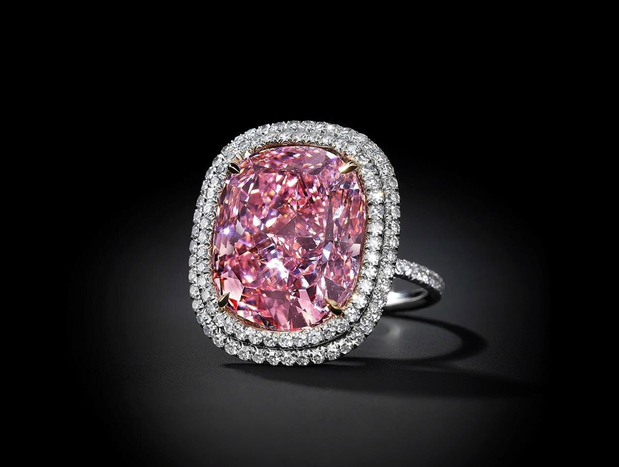 Christie's to offer the largest cushion-shaped fancy vivid pink diamond ever to come to auction