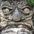 Détail d'une statue du parc Xieng Khuan