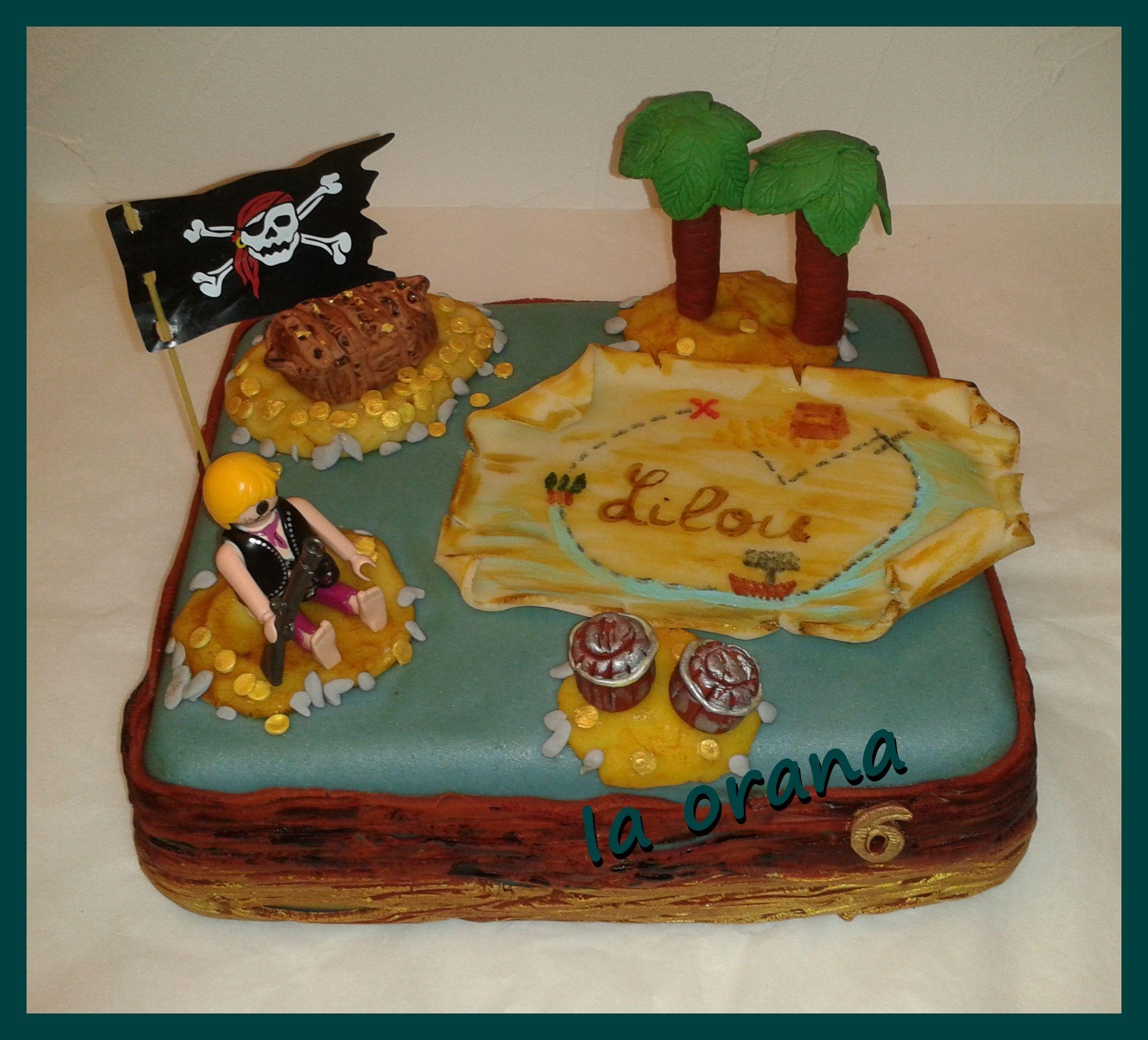 Gâteau Ile de pirate/Island pirate cake
