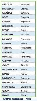 1813 Arras noms