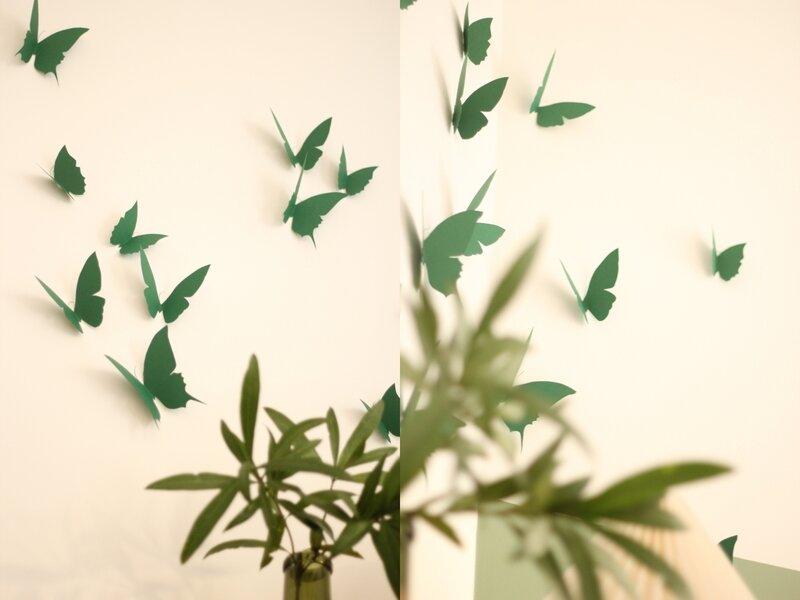 envolée papillons papier décoration murale TRENDY LITTLE4