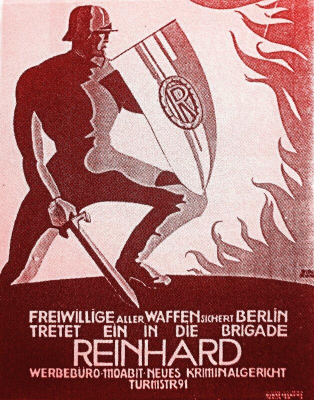 1922-affiche de la milice paramilitaire Reinhard