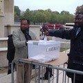 Vote symbolique de la Diaspora Camerounaise au Trocadéro à Paris