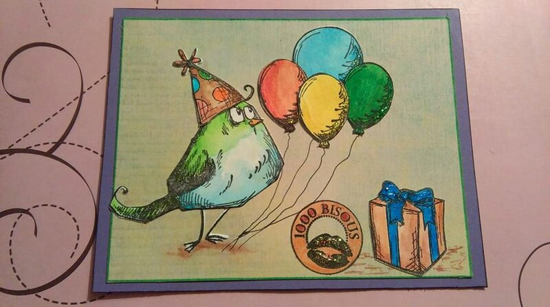 Carte anniversaire Crazy Birds