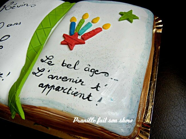 Préférence Gateau livre - book cake - Happy 20th birthday ! - Prunille fait  CR55