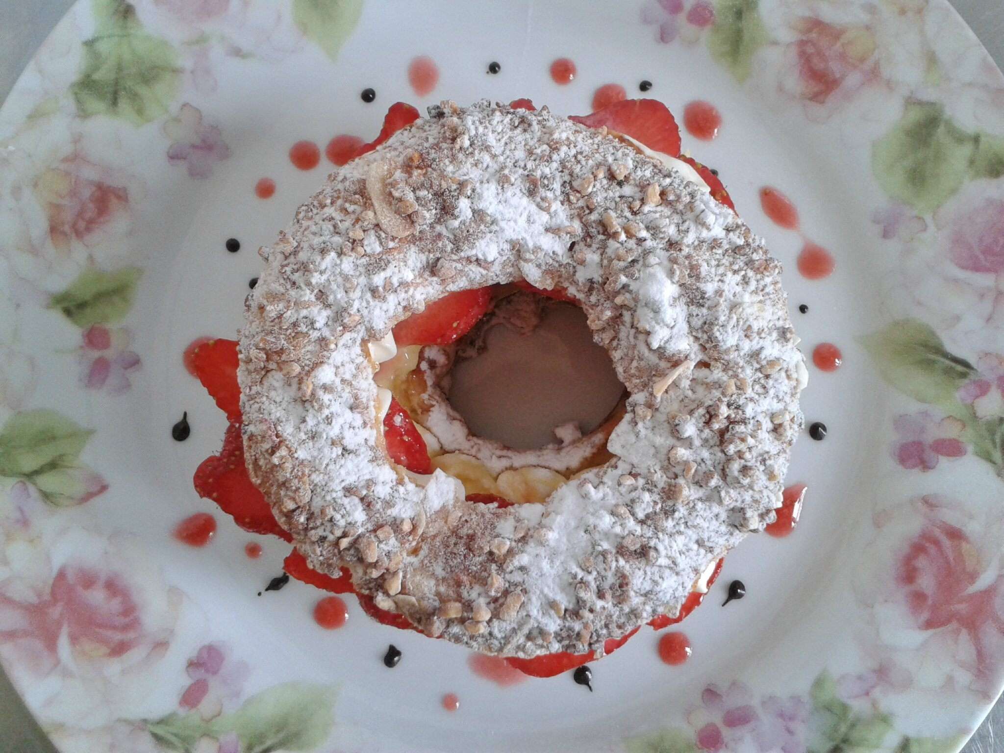 Paris Brest à la Fraise ( du chef Custos)