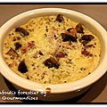 Clafoutis forestier au jambon et mozzarella ( 159 cal/par personne)
