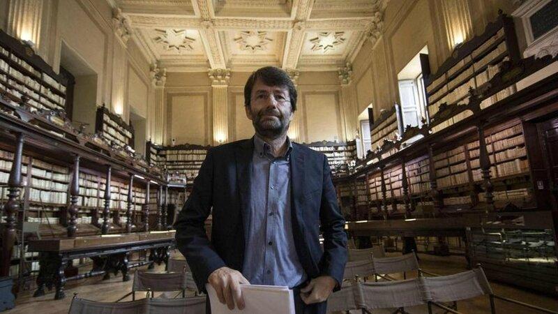 Dario Franceschini bibliothèque Vallicelliana Rome