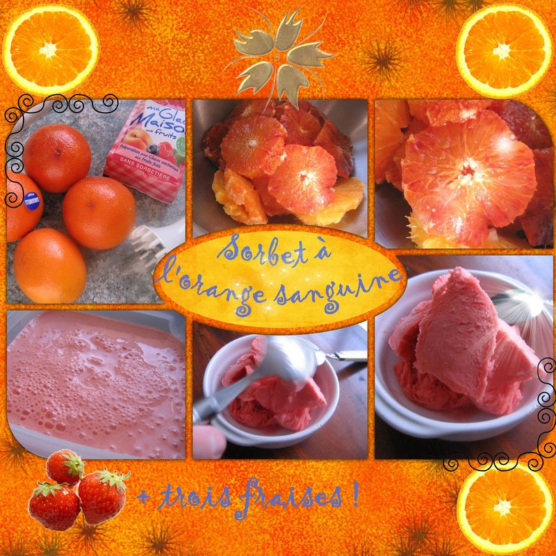 Sorbet orange sanguine pour essayer !