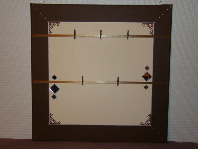 Marron et ecru avec des petits miroirs 40x40 les cr as for Miroir 40x40