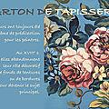 Les cartons de tapisserie : fleurs et feuilles