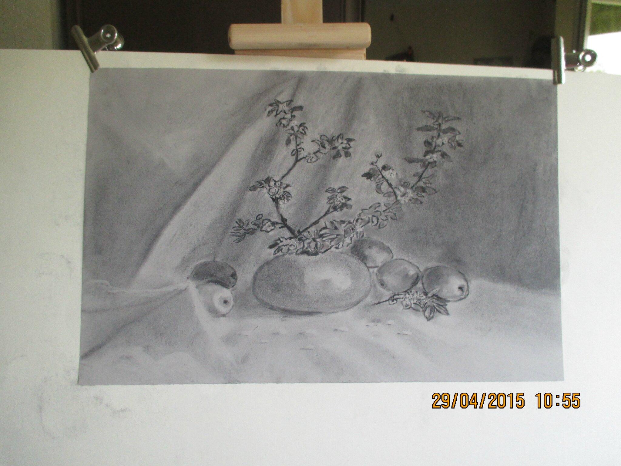 je finis par une touche poétique,voici mon dernier dessin,beaucoup tristounet hein les filles;grosses bises à toutes♥
