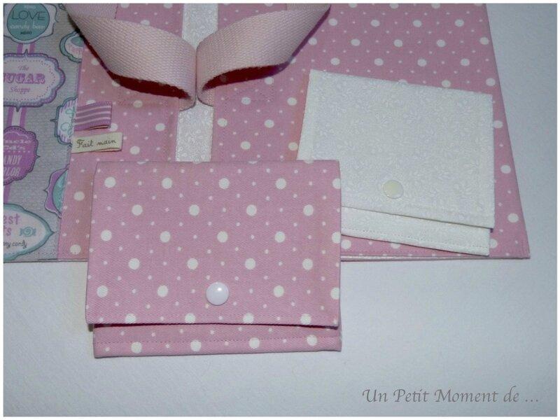 Pochettes pliables rose et écru