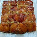 Moelleux tatin aux nectarines