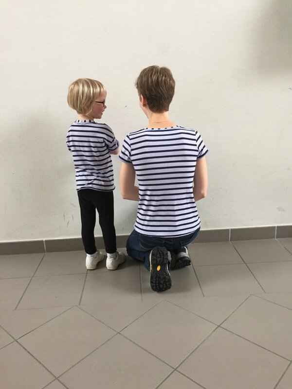 Be Cool (taille 5 ans) et Plantain (taille 34)