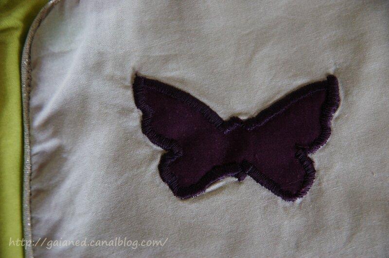 petit appliqué papillon