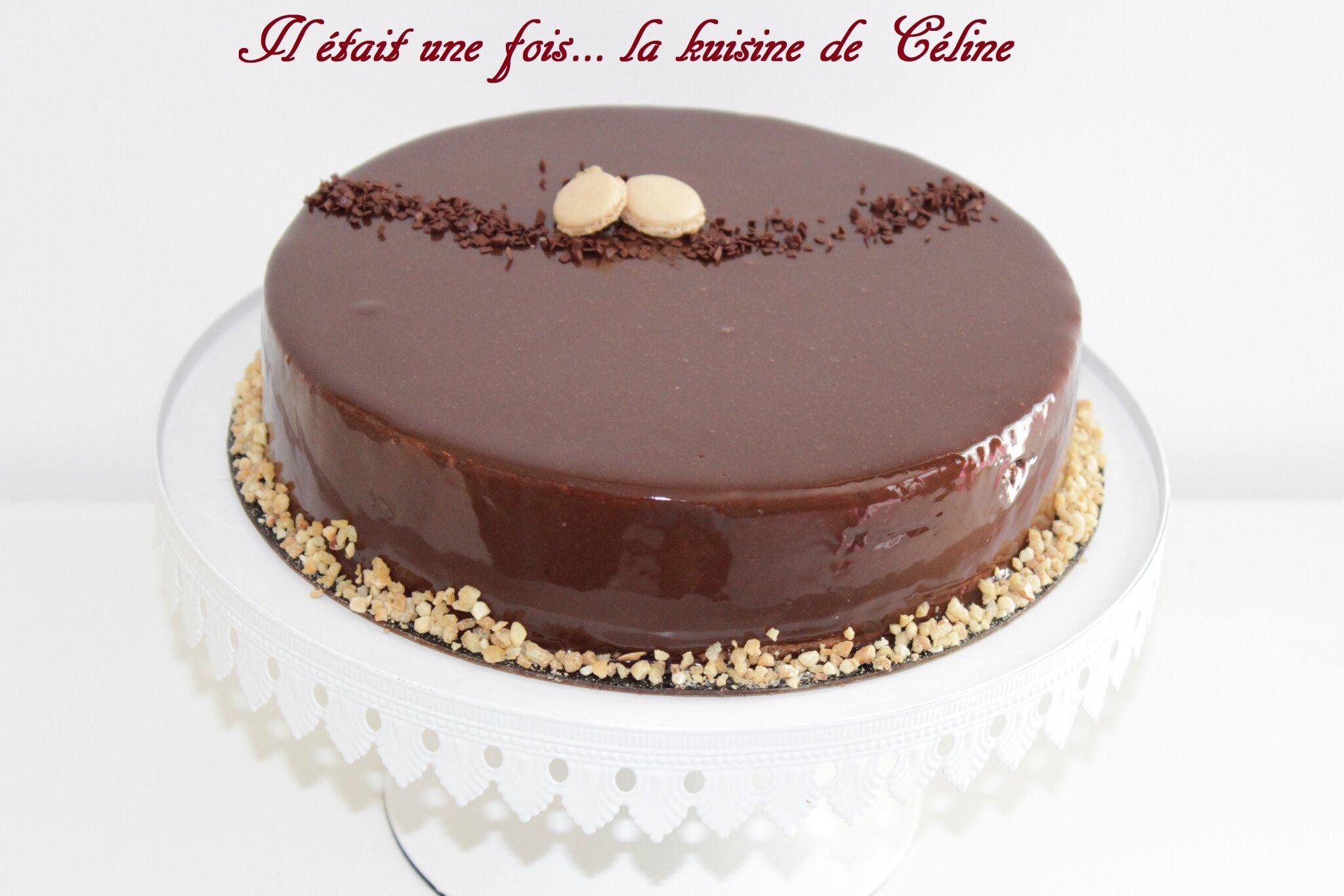 Entremet chocolat noisette recette cap il tait une for Glacage miroir 2 couleurs