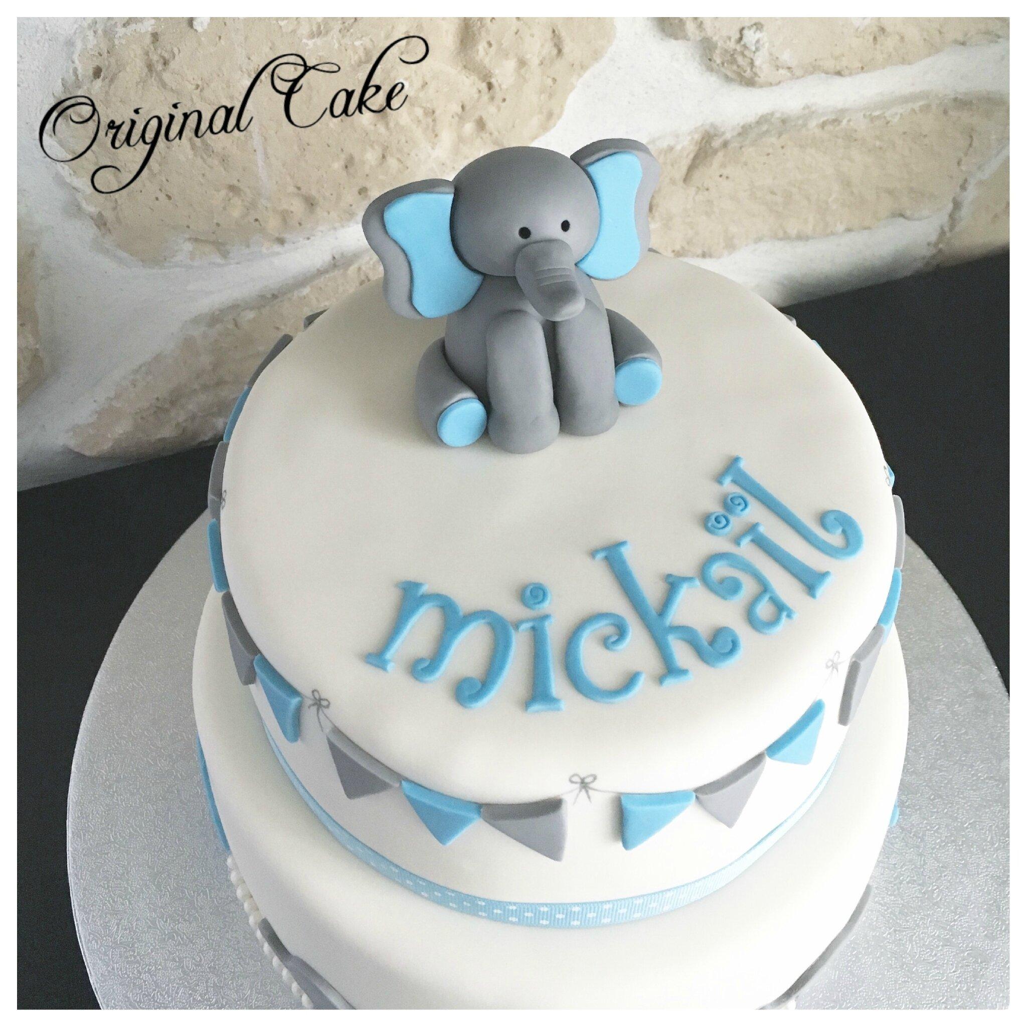 Extrêmement Gâteau naissance garçon - Original Cake TU39