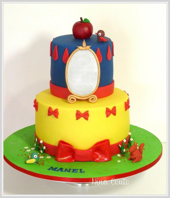 G teau anniversaire enfant n mes blanche neige ii atelier des gourmandises - Decoration gateau anniversaire enfant ...