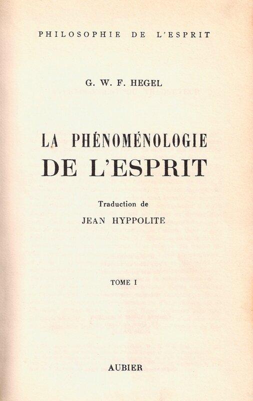 Phénoménologie page titre