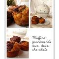 Muffins gourmands aux deux chocolats