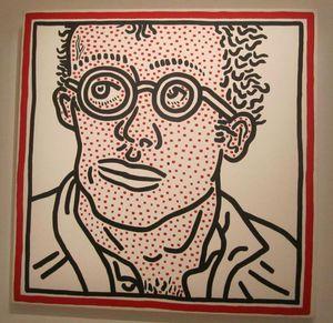 Keith Haring autoportrait