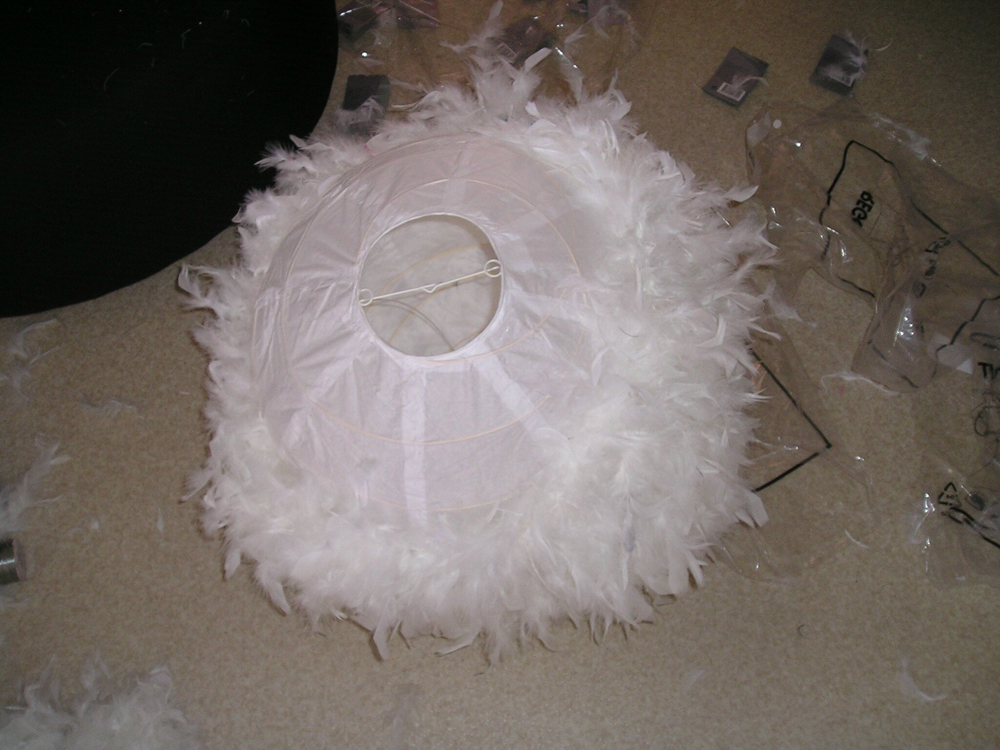 Suspension boule plume - Lampadaire papier ikea ...