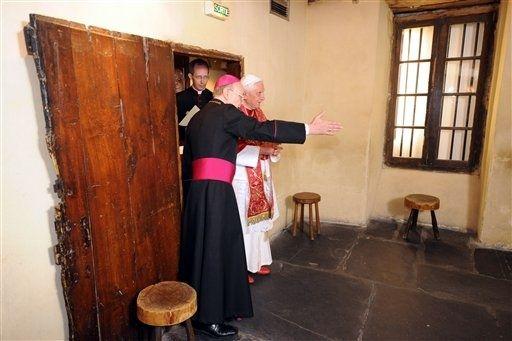 Lourdes, le Pape Benoît XVI au Cachot