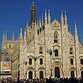 01 - MILAN Il duomo - facade de la cathedrale de Milan - structuraedotde