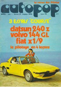 MAG-AUTOPOP - N° 31 - AVRIL 1974 (Mensuel 5,00F)