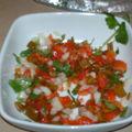 Carpaccio de tomates poivron coraindre