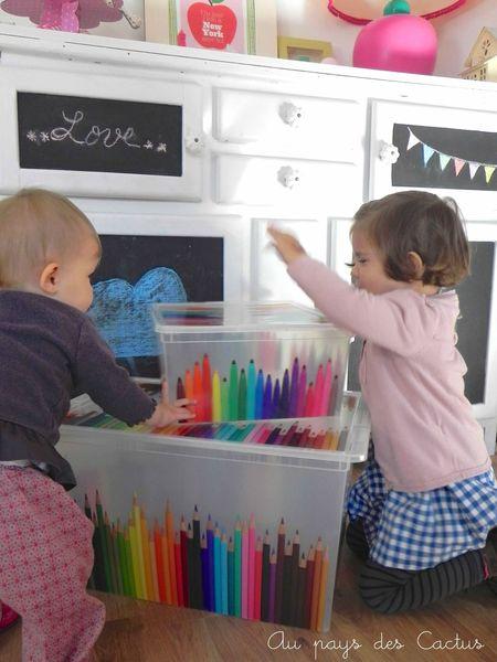 Boites crayons de couleurs feutres Au pays des Cactus 2