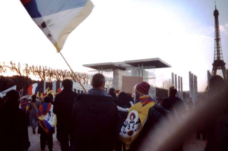 Arrivée au Mur de la Paix le 21 mars 2008