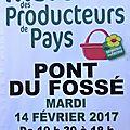 Marché des producteurs de pays à pont du fossé le 14 02 2017