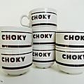 Vaisselle pub ... tasses choky o85 * churchill england