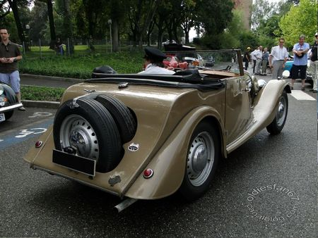Morgan plus 4 convertible 1952 Rencard de Haguenau 2