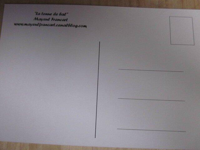Carte postale - La tenue de bal (1)
