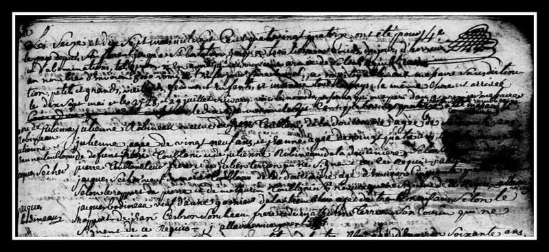 extrait registre Champtoceaux