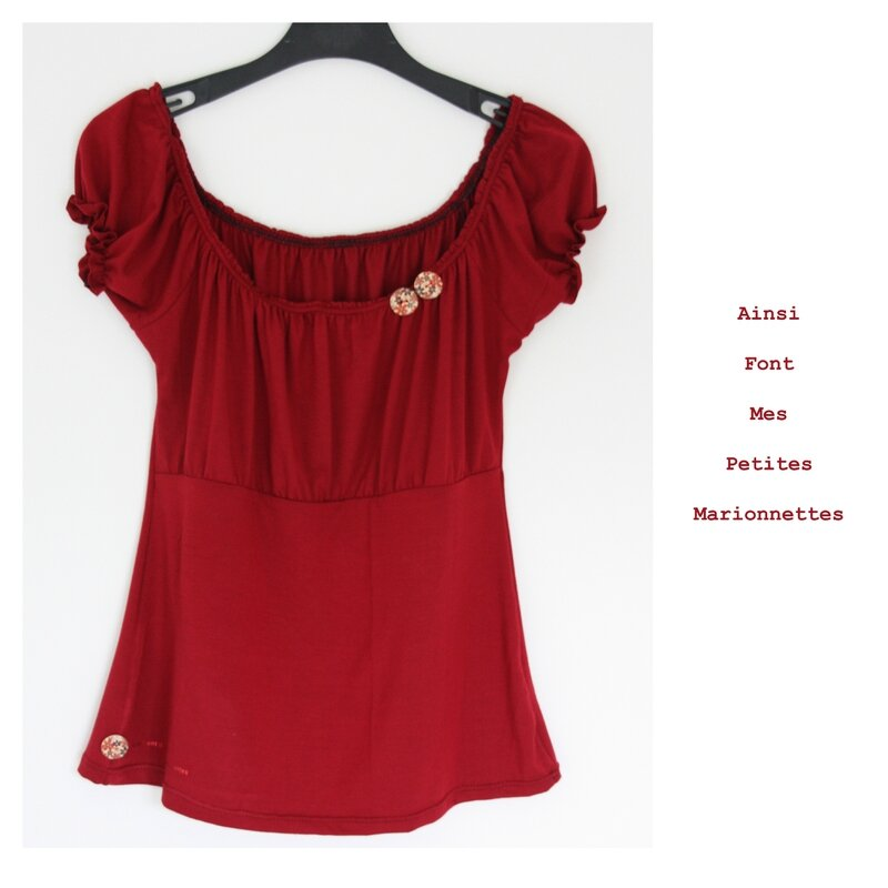 top froncee rouge 1