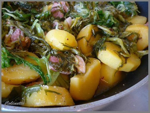 salade chaude pomme de terre scalore et lard