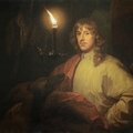 Godfried schalcken, portrait of james stuart, 4th duke of lennox and 1st duke of richmond (1612-1655), with his greyhound by can