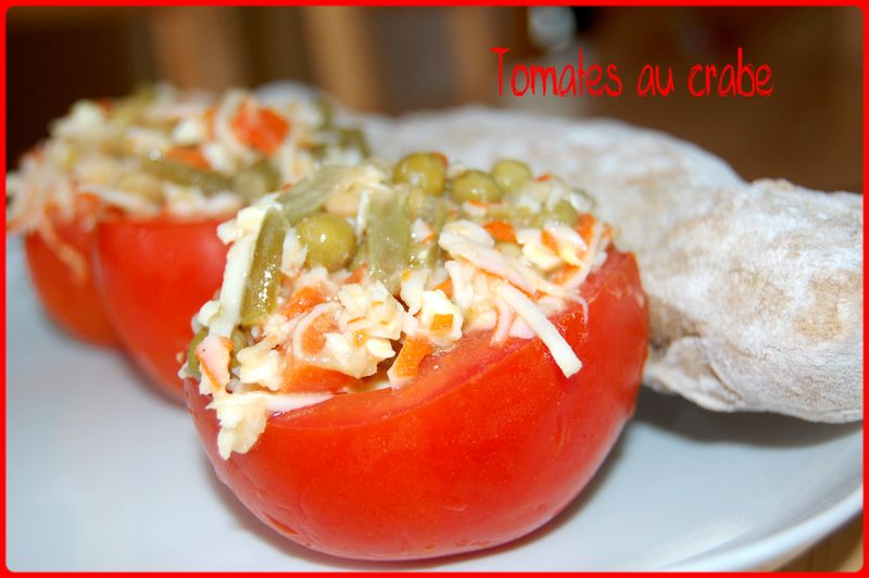 Tomates au crabe les gourmandises de nath for Entree simple originale