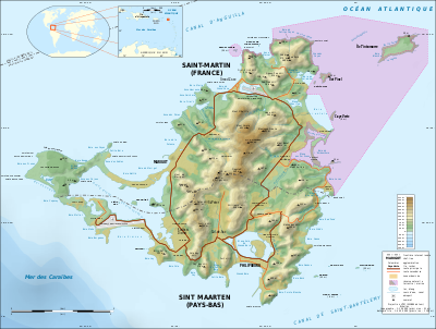 Saint-Martin_Island_topographic_map-fr