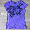 Abbey Dawn Purple Logo Tee