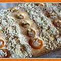Gâteau streusel aux abricots
