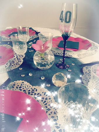 anniversaire glam chic 40 ans déco de table prunillefee blog