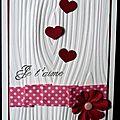 77. blanc, rose et rouge - effet bois et fleur