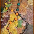Me revoilà avec mes dégradés....automne, noir blanc et du violet au fushia...